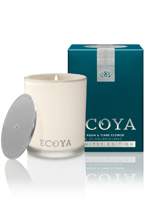 Ecoya Aqua and Tiare Flower Limited Edition Madison Jar Candle  ....Last Stock Available