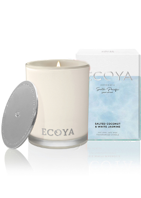 Ecoya Salted Coconut & White Jasmine Limited Edition Madison Jar Candle
