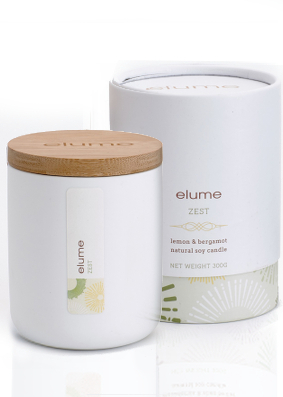 Elume Zest Soy Scent Candle ....Last Stock Available