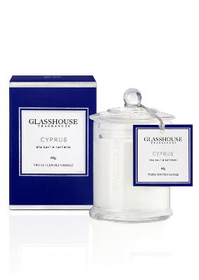 Glasshouse Cyprus Sea Salt and Saffron Mini Candle