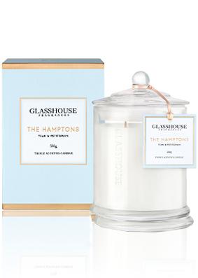 Glasshouse The Hamptons, Teak and Petitgrain Candle