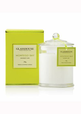 Glasshouse Montego Bay Coconut Lime Candle