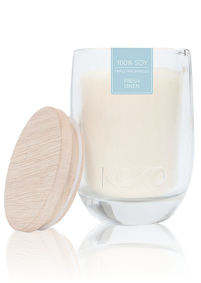 Koko Fresh Linen Scented Candle