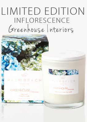 Palm Beach Greenhouse Interiors 'Inflorescence' Limited Edition Candle