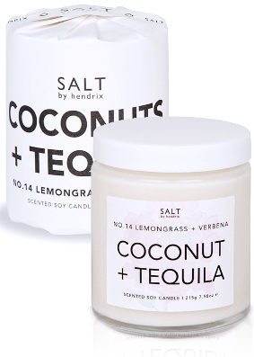 Salt by Hendrix Coconut Tequila Candle