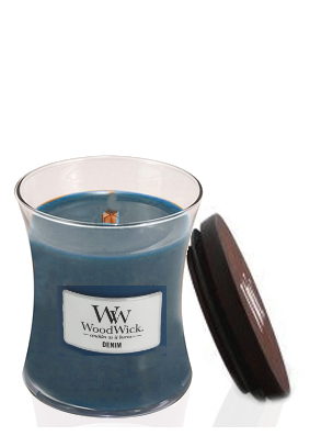 Woodwick Denim Medium Jar Candle