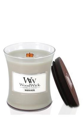 Woodwick Warm Wool Medium Jar Candle