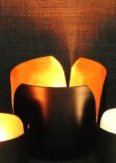 Copper Tulip Tealight Holder, Large