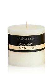 Elume Caramel Vanilla 7.5cm Pillar Candle