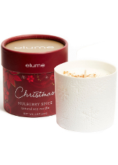 Elume Christmas Spiced Mulberry Ceramic Candle
