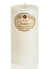 Elume Christmas Vanilla Nutmeg 15cm Pillar Candle