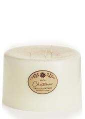 Elume Christmas Vanilla Nutmeg 3 Wicker Pillar Candle