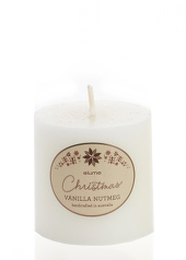 Elume Christmas Vanilla Nutmeg 7.5cm Pillar Candle