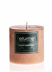 Elume Coconut Vanilla 7.5cm Pillar Candle