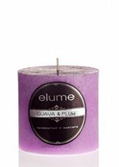 Elume Guava & Plum 7.5cm Pillar Candle