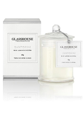 Glasshouse Santorini Blue Jasmine & Hedera Mini Candle