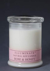 Illuminate Rose & Honey Aromatherapy Blend Jar Candle