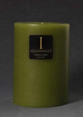 Illuminate Fire & Earth Small Pillar Candle