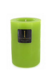Illuminate Honeydew Melon Small Pillar Candle