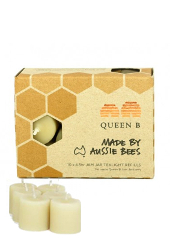 Queen B Beeswax Jam Jar Refill Candles, Pack 10