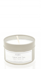 Kobo Motif Tabac & Talc Travel Tin Candle
