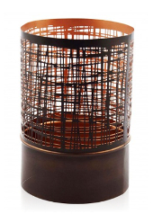 Copper Mesh Hurricane Large Tea Light Holder