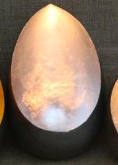 Silver Egg Candle Holder, Large