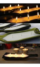 Leadlight By Ettore Zestful Bottle Candle