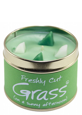 Lily Flame Cut Grass Tin Candle