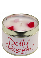 Lily Flame Dolly Rocker Tin Candle