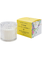 Mrs Darcy Citrine Paw Paw Passionfruit Crystal Candle