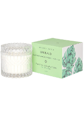 Mrs Darcy Emerald Oakmoss, Sandalwood, Vanilla Crystal Candle