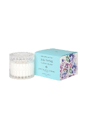 Mrs Darcy Petite Blue Topaz Papaya & Guava Crystal Candle