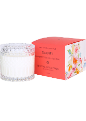 Mrs Darcy Garnet Raspberry, Peach & Coconut Crystal Candle