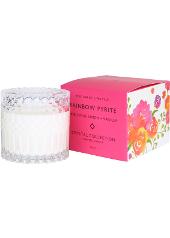 Mrs Darcy Rainbow Pyrite Pink Lotus, Lemon & Vanilla Crystal Candle