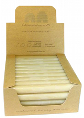 Queen B Beeswax Dinner Candles