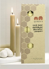 Queen B Beeswax 4 Pack Dinner Candles