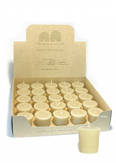 Queen B Beeswax Votive Candle