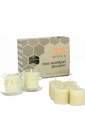 Queen B Beeswax Jam Jar Tealight Candles