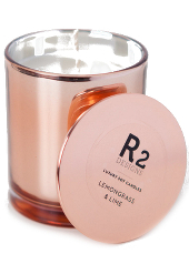 R2 Designs Lemongrass Lime Copper Candle