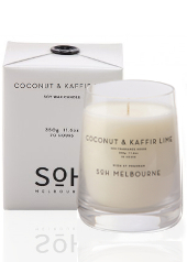 SOH Melbourne Coconut & Kaffir Lime Scented Candle