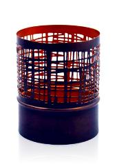 Copper Mesh Hurricane Small Tea Light Holder