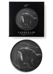 Sohum Black Marble Effect Candle Lid
