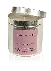 True Grace Moroccan Rose Tin Candle