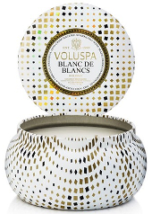 Voluspa Blanc de Blancs Double Wick Christmas Tin Candle