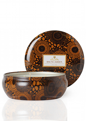 Voluspa Japonica Baltic Amber 3 Wick Tin Candle