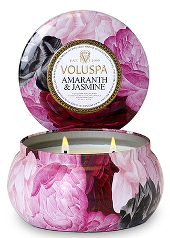 Voluspa Jardin Amaranth & Jasmine 2 Wick Tin Candle
