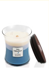 Woodwick Beachfront Cottage Trilogy Jar Candle